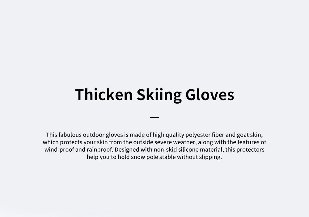 Naturehike Wind-proof Water-proof Velvet Thickening Skiing Gloves for Outdoor  Warm Insulation Winter Thermal Hand Protection Sport Gloves 0