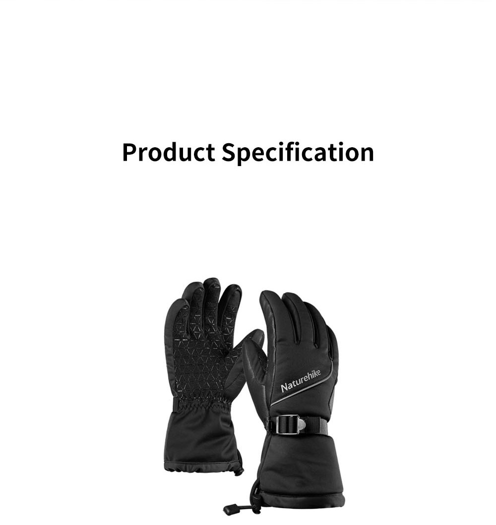 Naturehike Wind-proof Water-proof Velvet Thickening Skiing Gloves for Outdoor  Warm Insulation Winter Thermal Hand Protection Sport Gloves 10