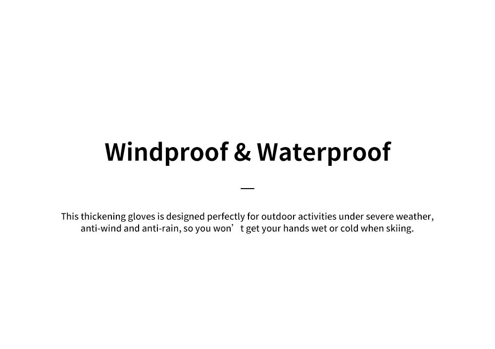 Naturehike Wind-proof Water-proof Velvet Thickening Skiing Gloves for Outdoor  Warm Insulation Winter Thermal Hand Protection Sport Gloves 2