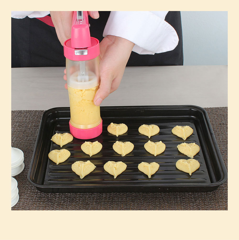 High Quality Stainless Steel Biscuit Machine with Sixteen Flower Pieces Six Decorating Mouth Multi-functional Machine for Cookie Baking 1