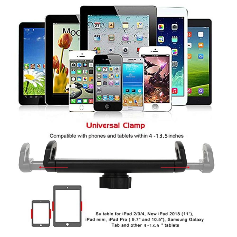 Spessn Adjustable Universal Tablet Floor Stand 360-degree Rotatable Metal Tablet Holder For Samsung Galaxy Tab13 inch, iPad Pro 12.9, iPad Mini, iPad Air, LG, Huawei and Xiaomi 0