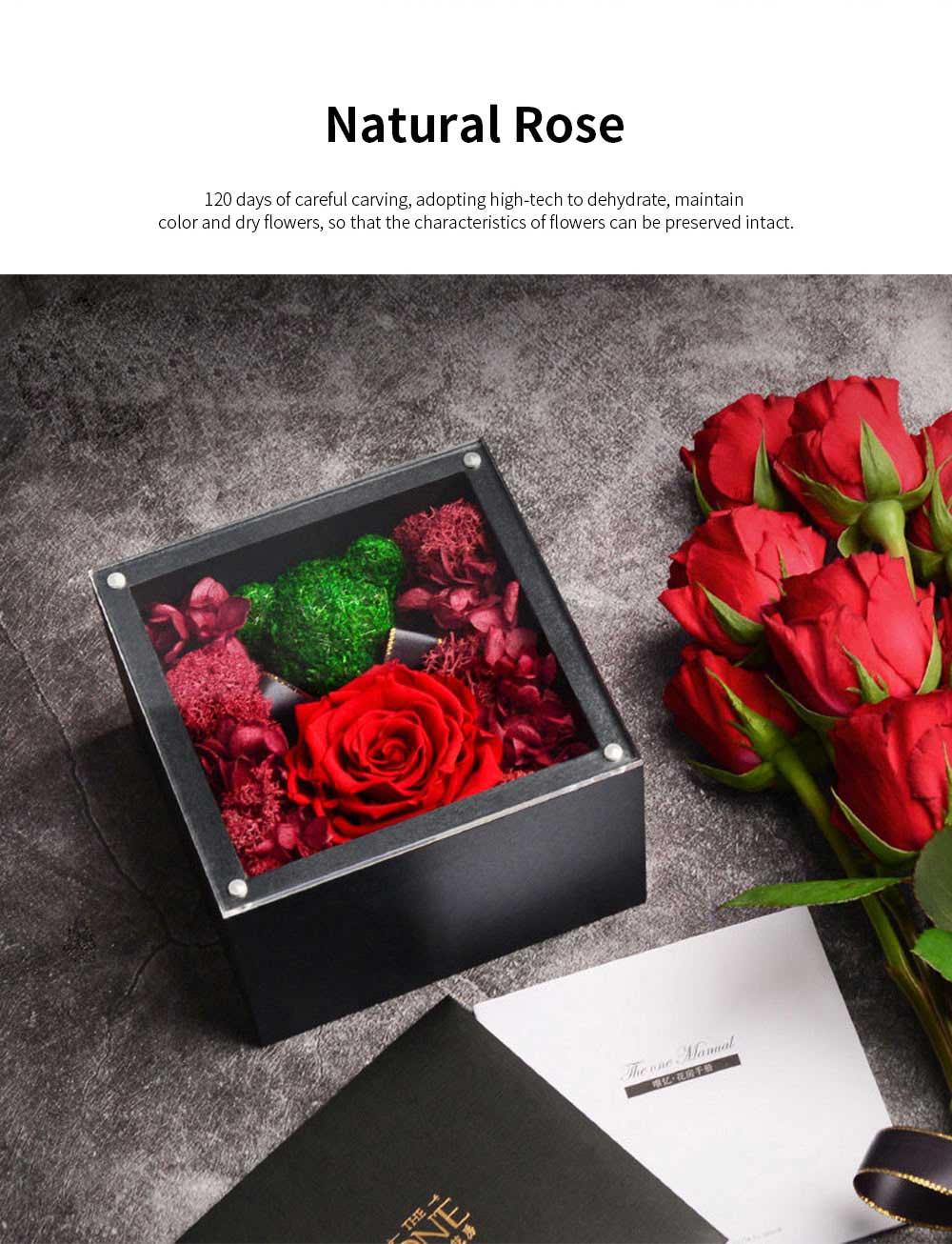 Eternal Rose with Gift Box Forever Blossom Flower for Love Ones Artificial Eternal Life Flower Gift for Mom Lover Girlfriend 1