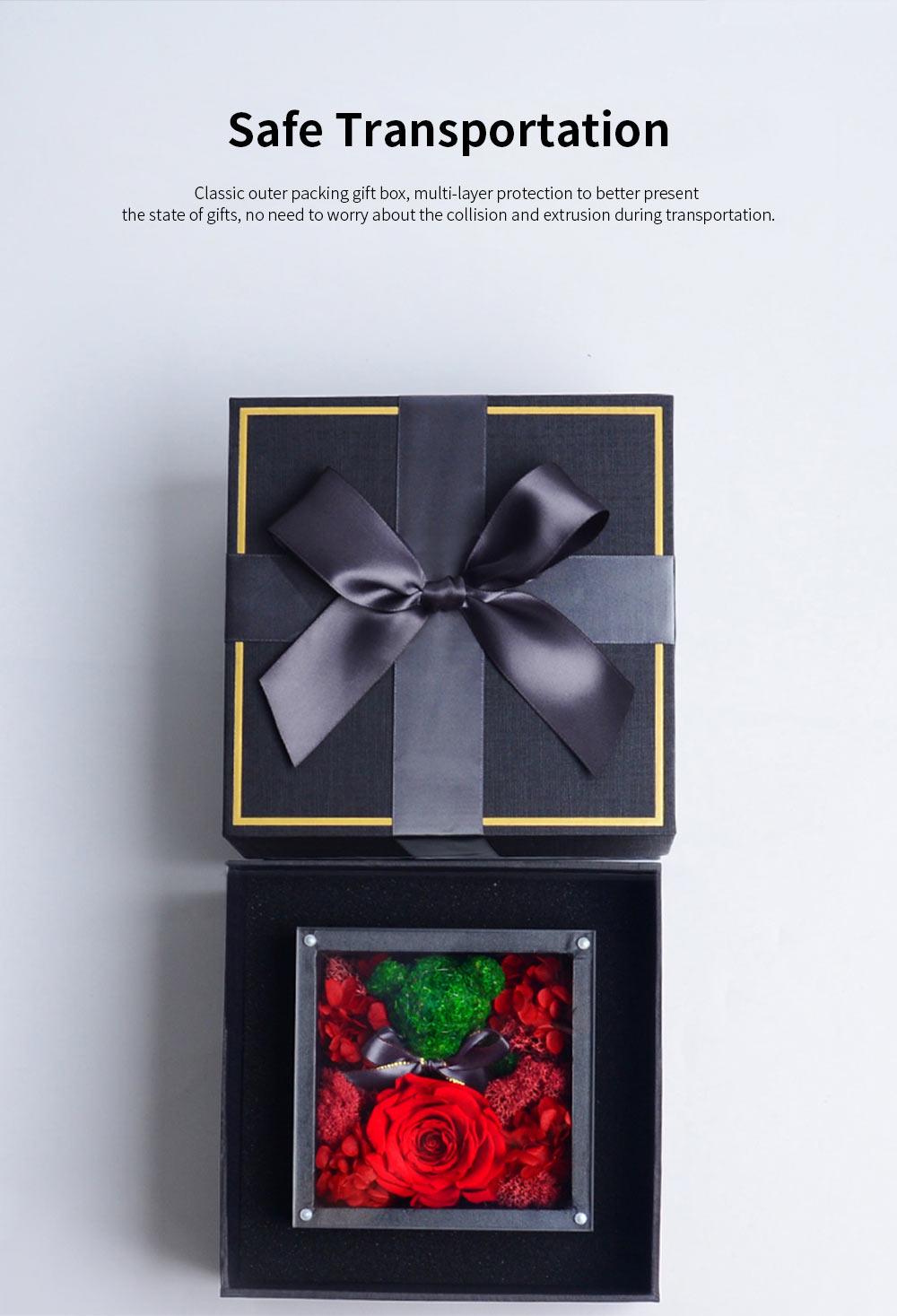 Eternal Rose with Gift Box Forever Blossom Flower for Love Ones Artificial Eternal Life Flower Gift for Mom Lover Girlfriend 7