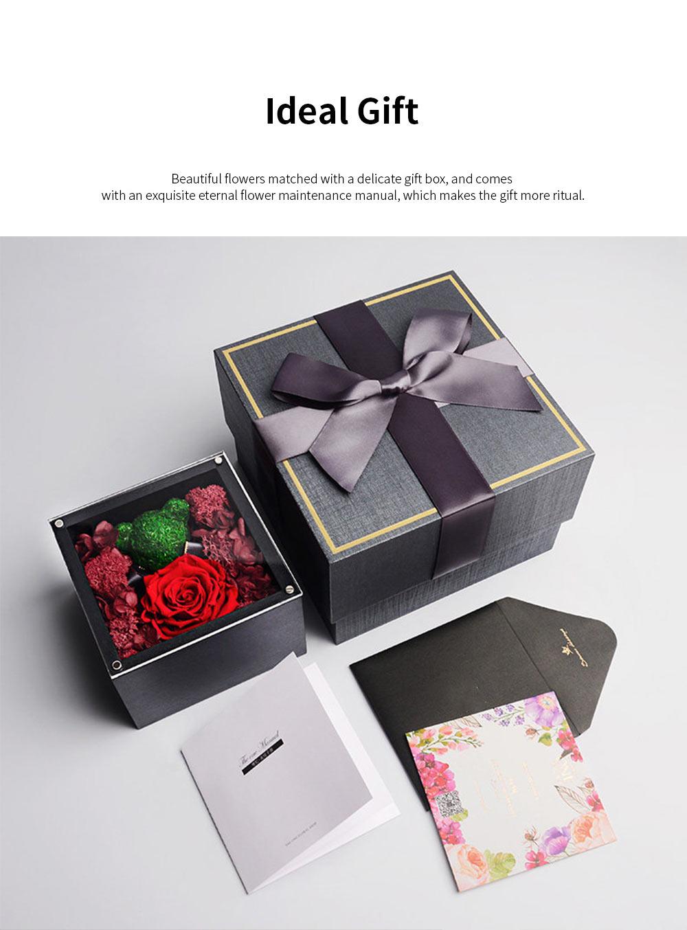 Eternal Rose with Gift Box Forever Blossom Flower for Love Ones Artificial Eternal Life Flower Gift for Mom Lover Girlfriend 5