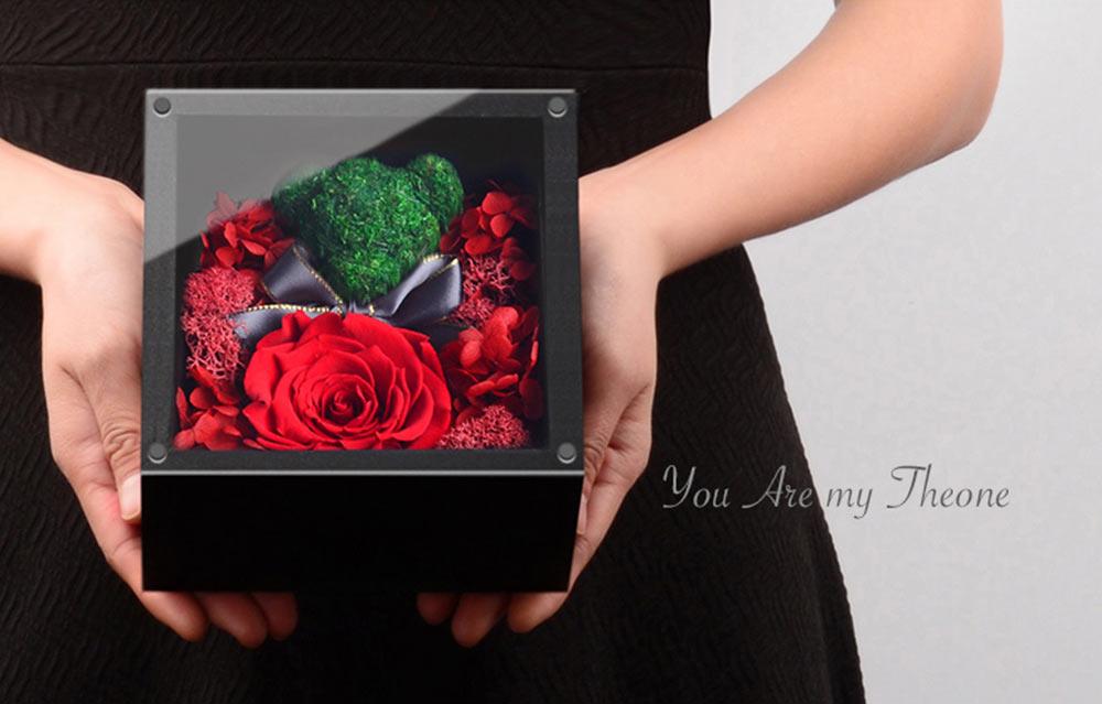 Eternal Rose with Gift Box Forever Blossom Flower for Love Ones Artificial Eternal Life Flower Gift for Mom Lover Girlfriend 6