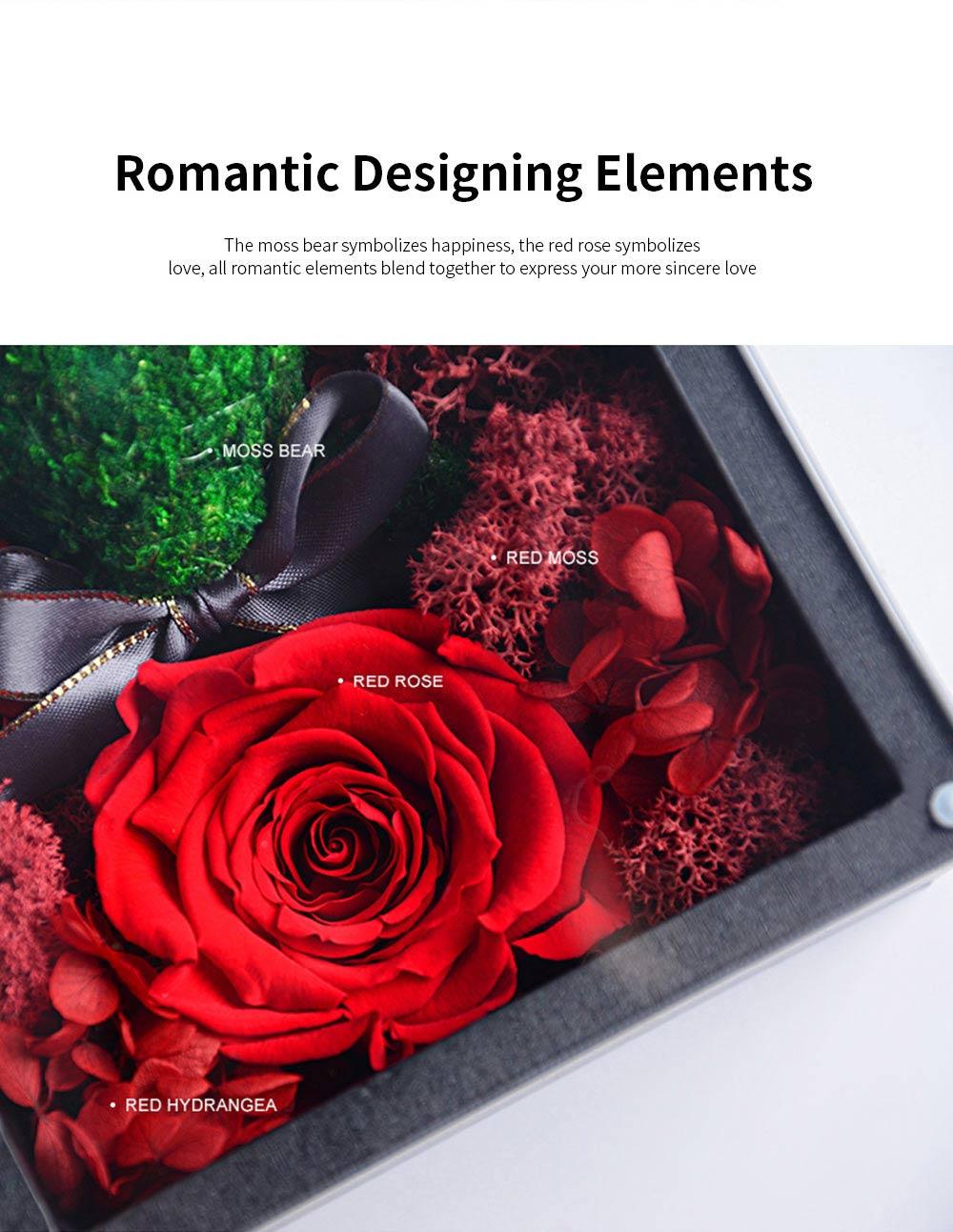 Eternal Rose with Gift Box Forever Blossom Flower for Love Ones Artificial Eternal Life Flower Gift for Mom Lover Girlfriend 3