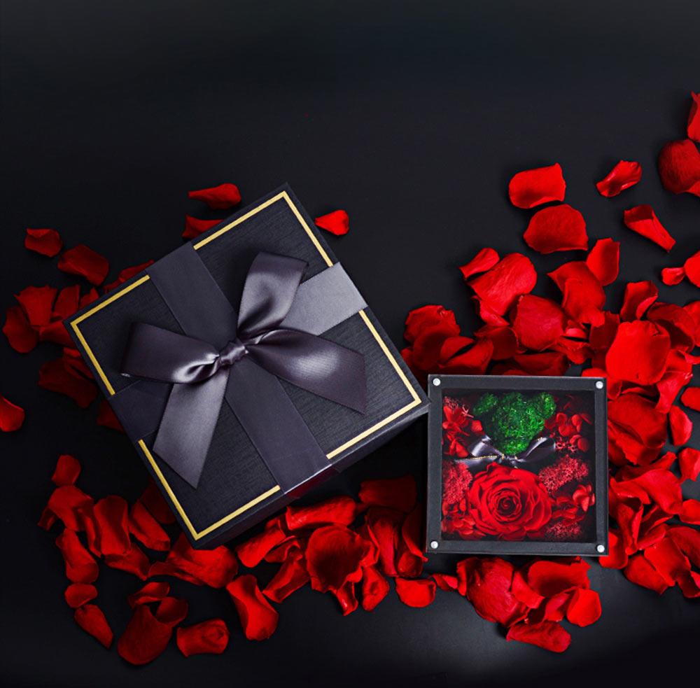 Eternal Rose with Gift Box Forever Blossom Flower for Love Ones Artificial Eternal Life Flower Gift for Mom Lover Girlfriend 4