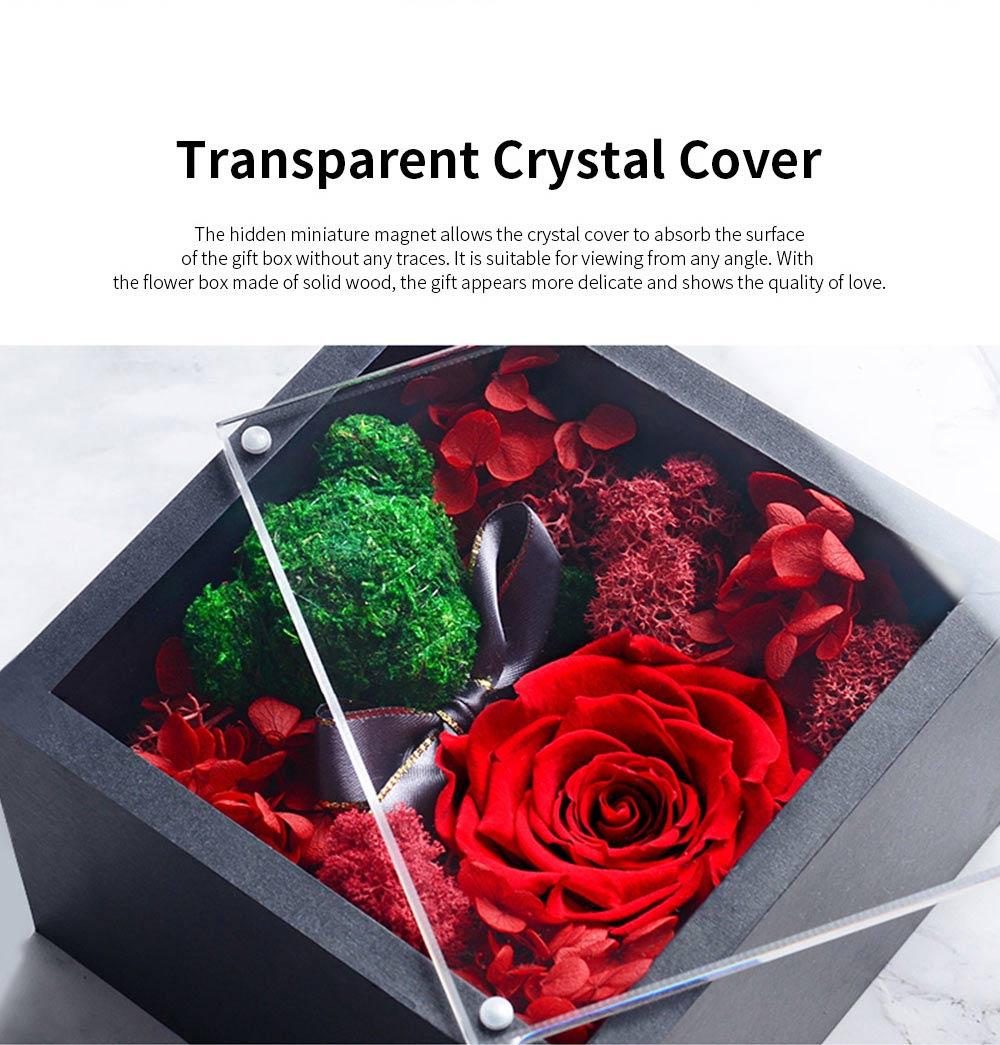 Eternal Rose with Gift Box Forever Blossom Flower for Love Ones Artificial Eternal Life Flower Gift for Mom Lover Girlfriend 2