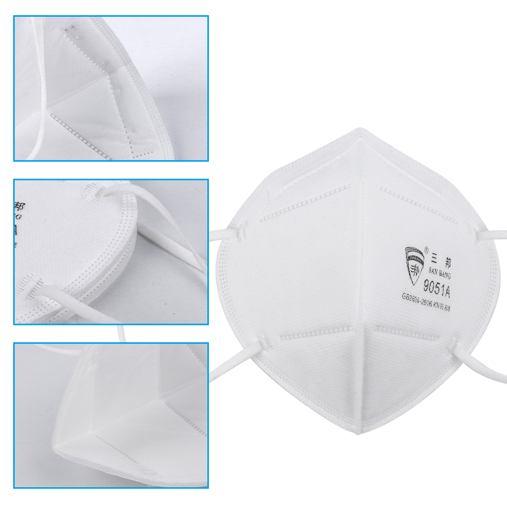 50pcs Face Mask Respirator KN95 Anti-Dust Breathable Protective Mask with N95 Filter 1