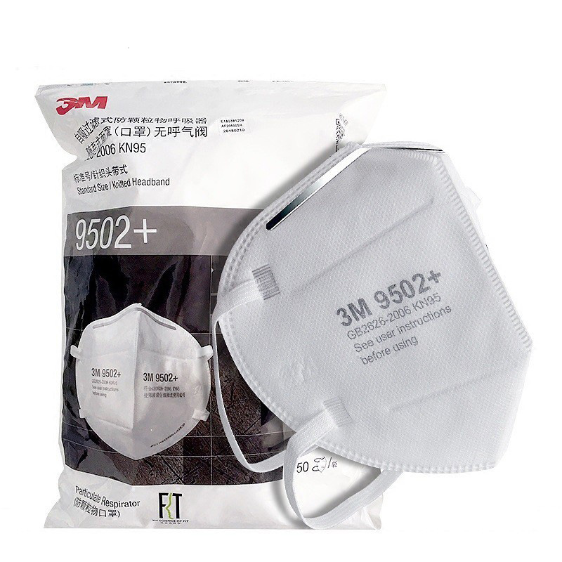 3M 9502+ KN95 Particulate Respirators Headband Type Face Mask PM2.5 Protective Dust Masks 1