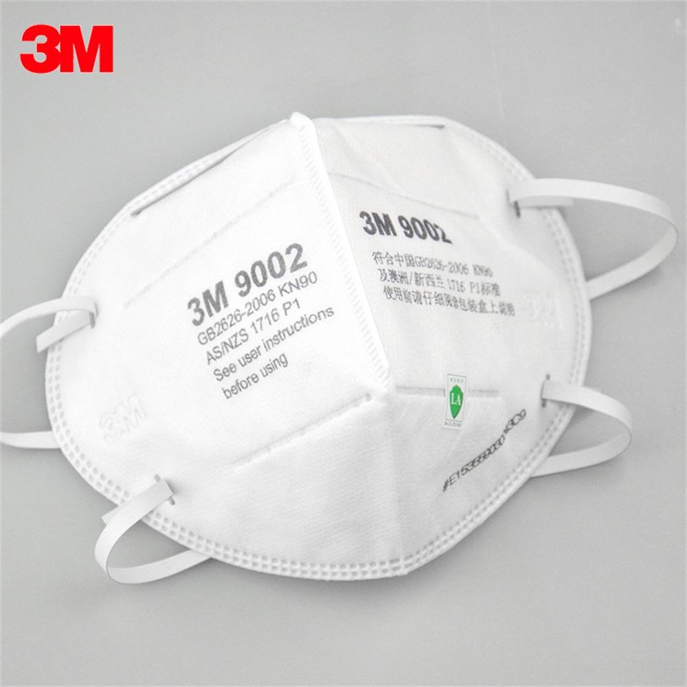 3M 9002 Particulate Respirator KN90 Headband Face Masks 50Pcs 1