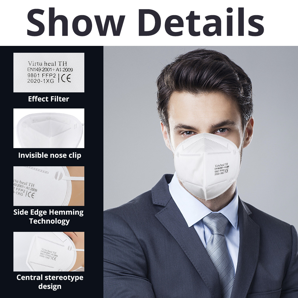 Virtu Health TH Folding Safety Masks FFP2 Particulate Respirator Mask EN149 1