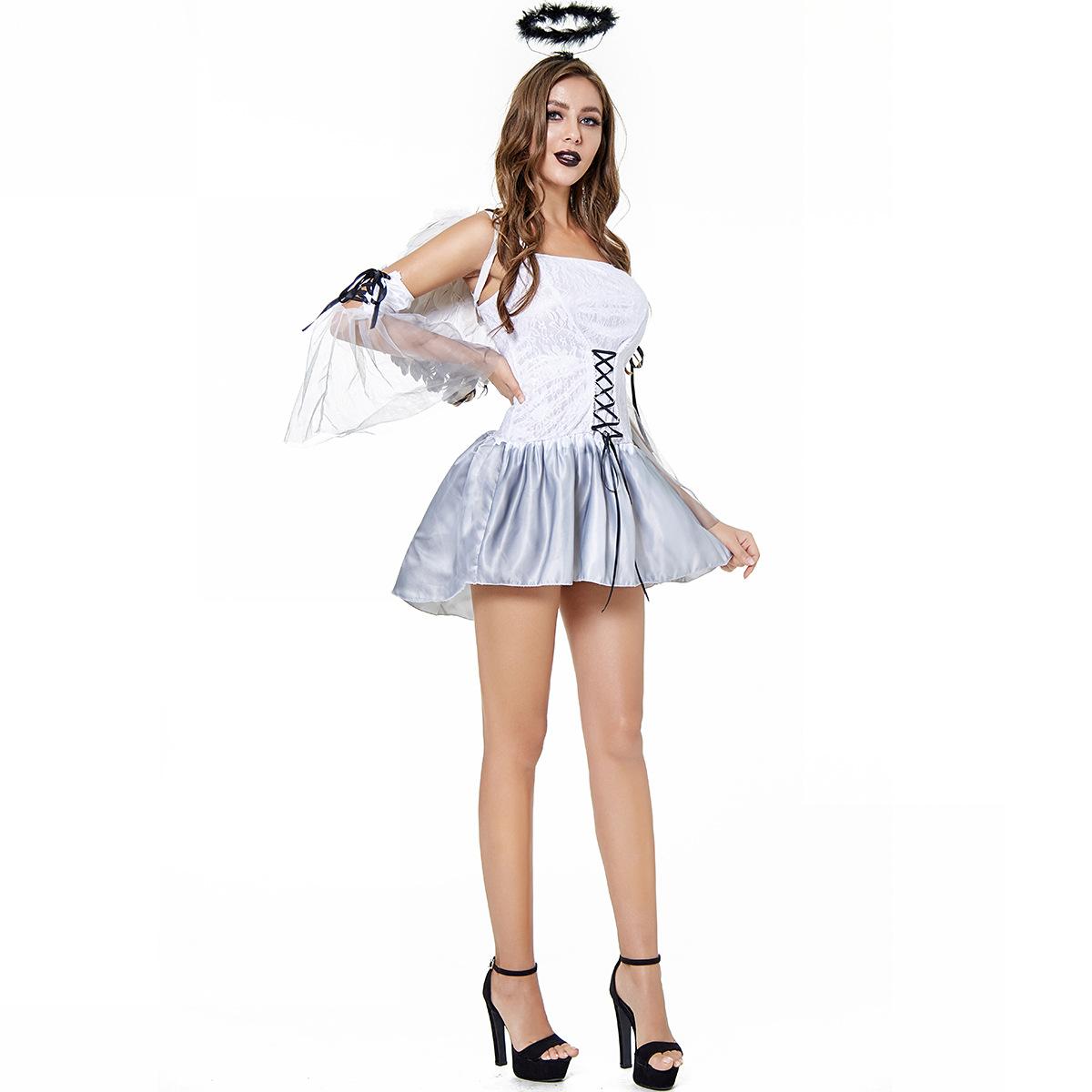 Halloween women's costume Sexy Dark Angel Costume game uniform evil angel costume ghost bride large size 3