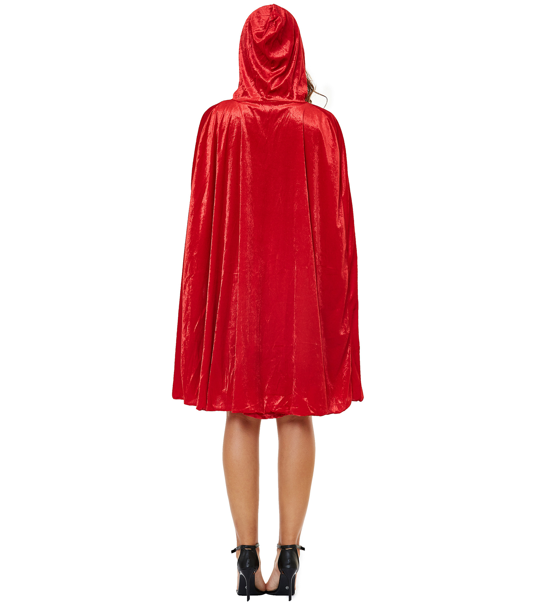 Women's Halloween Cape Little Red Riding Hood Cosplay role uniform thickened s-3xl plus 4