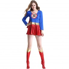 Halloween women's costume sexy woman Superman costume role play oversized