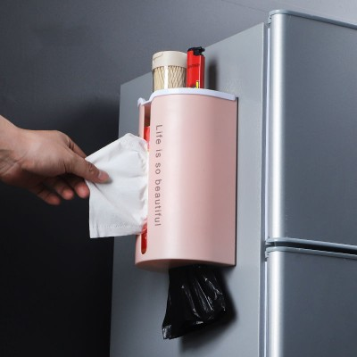 Storage-Rack Paper-Dispenser Tissue Roll-Holder Cling Kitchen-Film Wall-Mounted Multifunctional