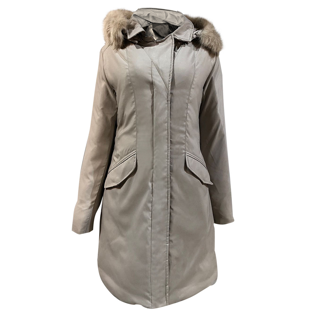 2020 new European and American slim down cotton-padded jacket ladies warm autumn and winter coat 6