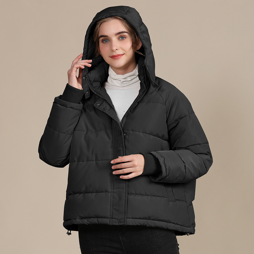 2020 new autumn and winter European and American plus size loose cotton-padded jacket female short solid color women's cotton coat women's  14