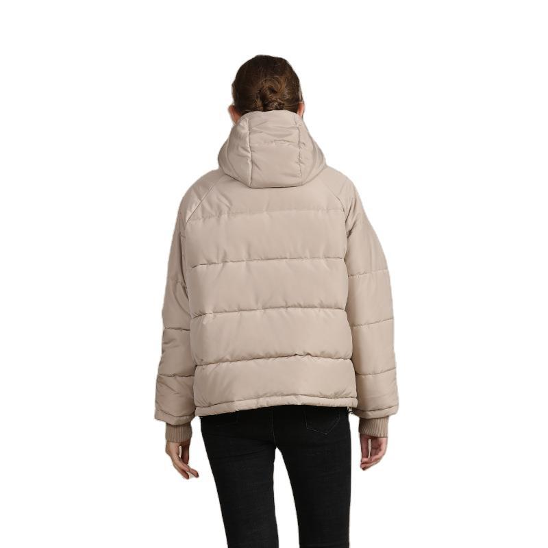 2020 new autumn and winter European and American plus size loose cotton-padded jacket female short solid color women's cotton coat women's  9