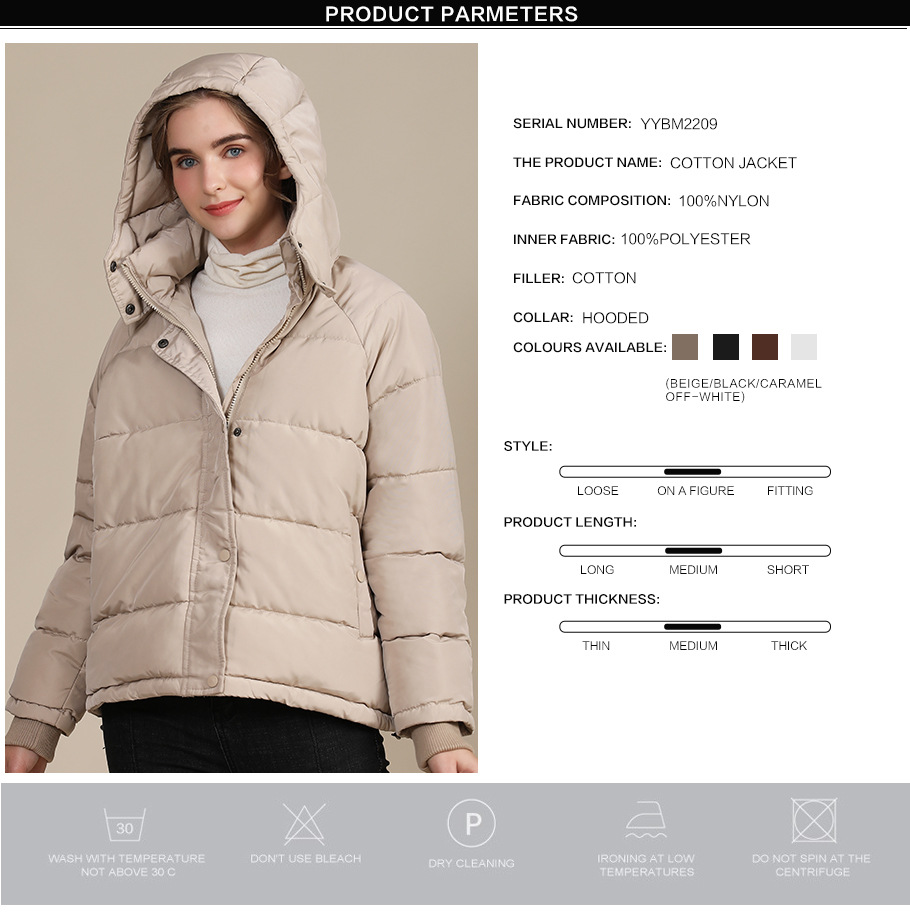 2020 new autumn and winter European and American plus size loose cotton-padded jacket female short solid color women's cotton coat women's  1