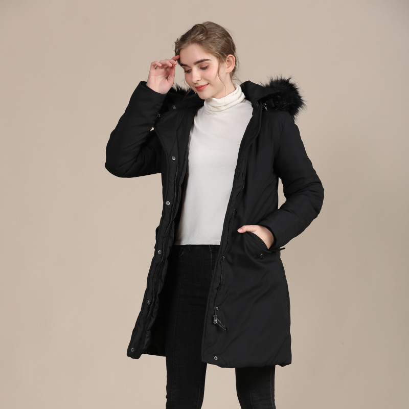 2020 new European and American slim down cotton-padded jacket ladies warm autumn and winter coat 3