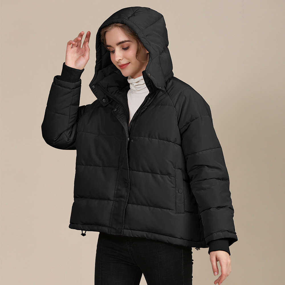 2020 new autumn and winter European and American plus size loose cotton-padded jacket female short solid color women's cotton coat women's  13