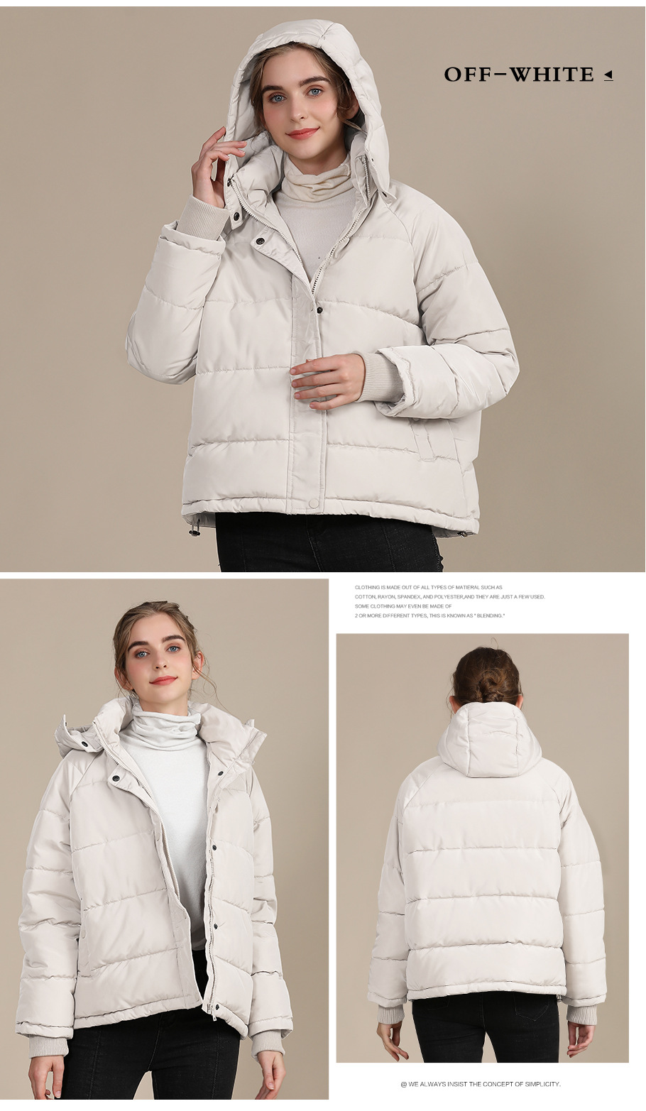 2020 new autumn and winter European and American plus size loose cotton-padded jacket female short solid color women's cotton coat women's  6