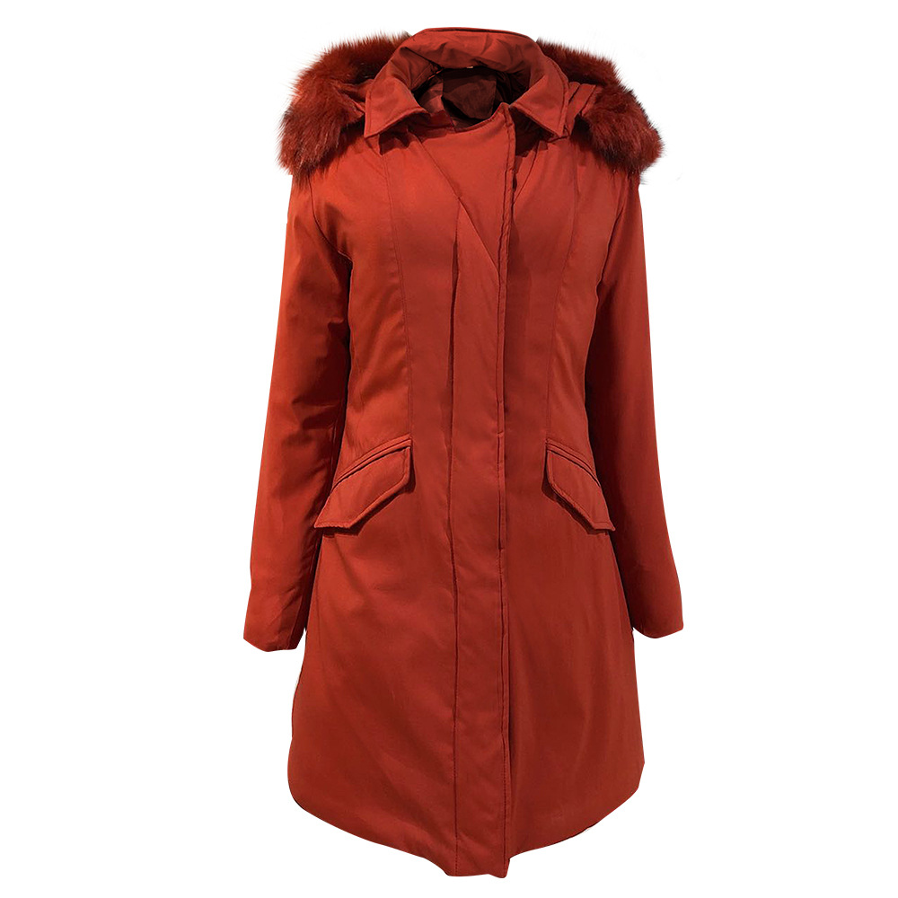 2020 new European and American slim down cotton-padded jacket ladies warm autumn and winter coat 5