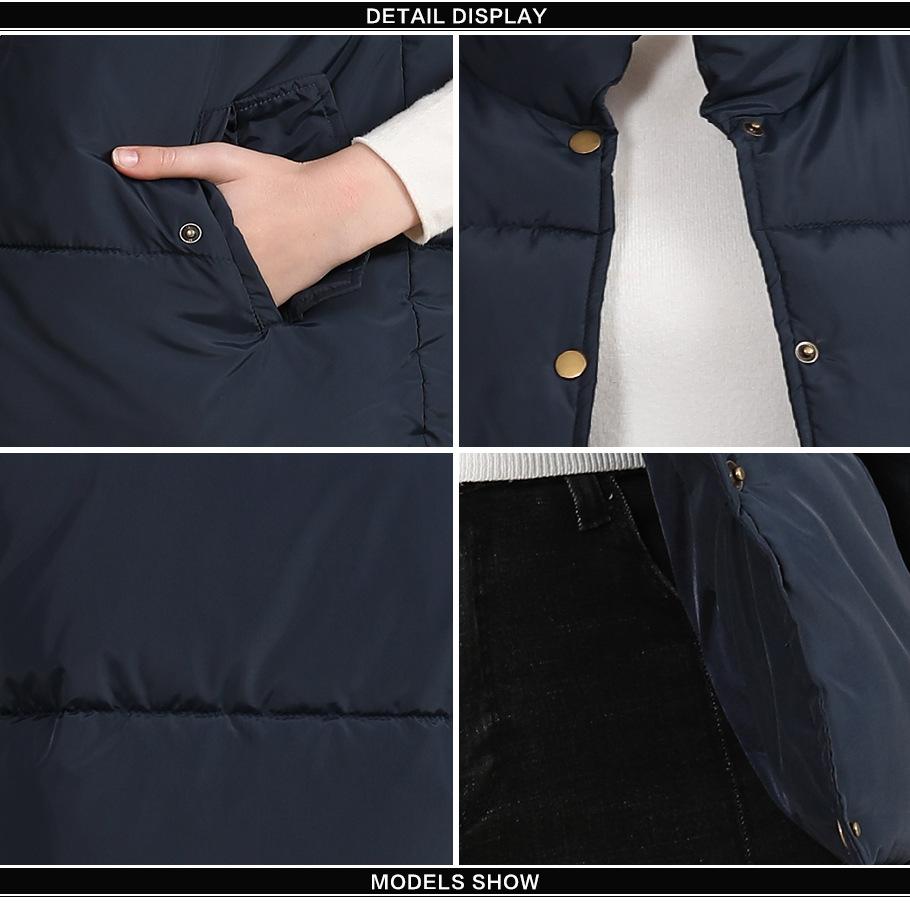 2020 new European and American plus size cotton vest female autumn collar sleeveless cotton vest female jacket 11