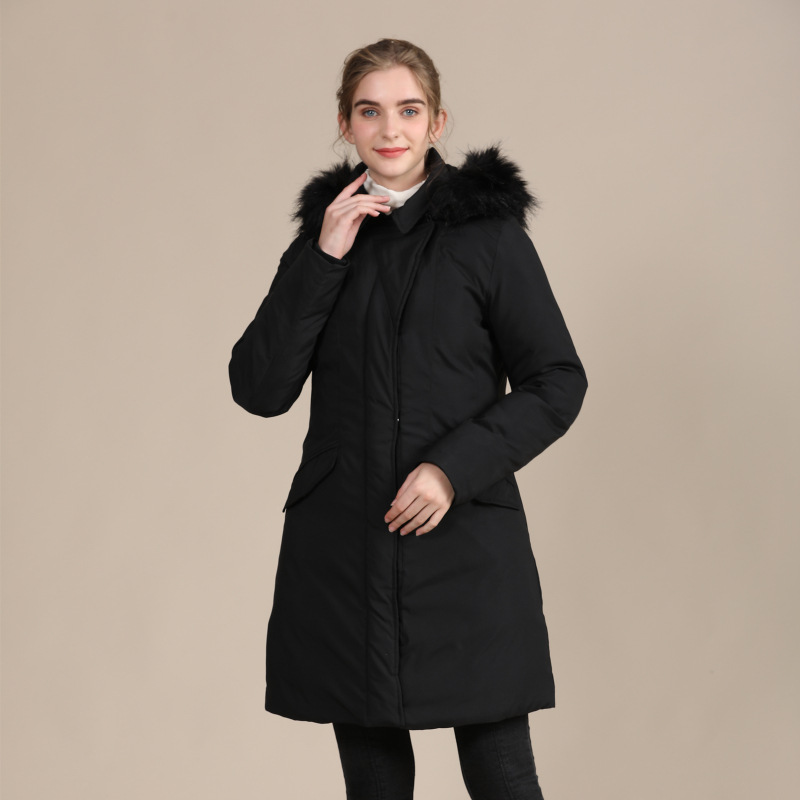 2020 new European and American slim down cotton-padded jacket ladies warm autumn and winter coat 1