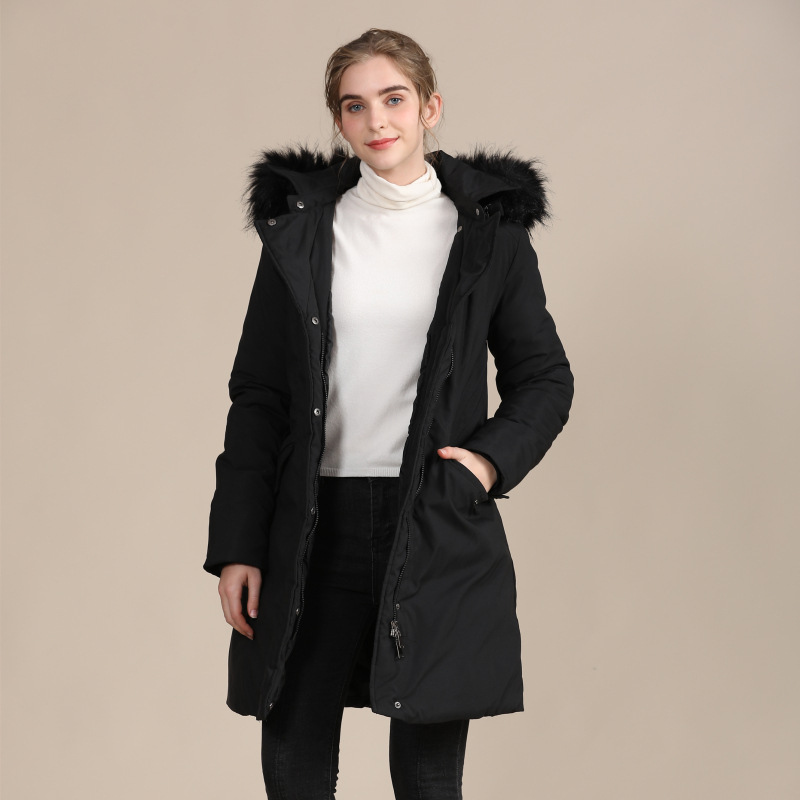2020 new European and American slim down cotton-padded jacket ladies warm autumn and winter coat 2