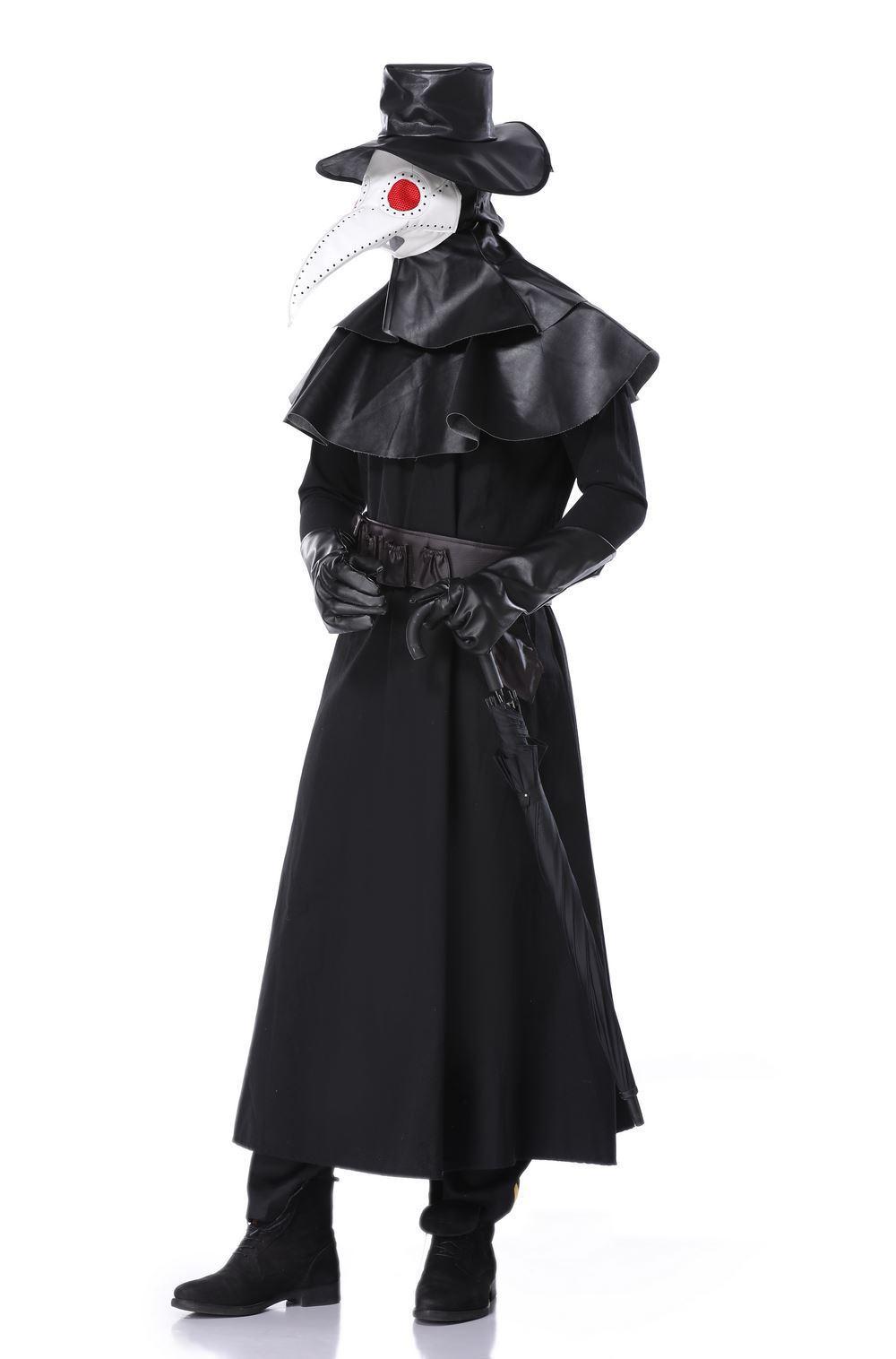 Halloween Cosplay plague beak doctor costume dark hero costume Venice carnival dress up 3
