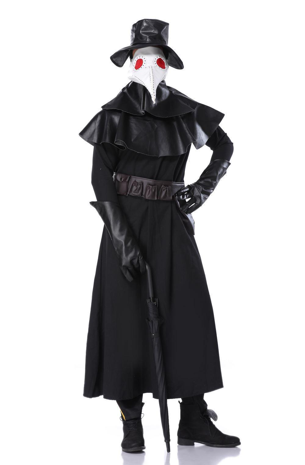 Halloween Cosplay plague beak doctor costume dark hero costume Venice carnival dress up 1