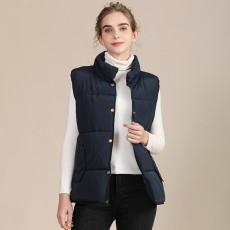 2020 new European and American plus size cotton vest female autumn collar sleeveless cotton vest female jacket