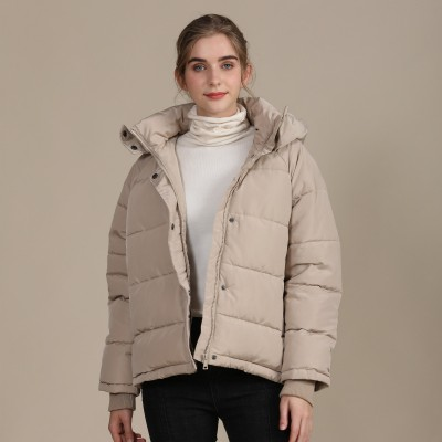 2020 new autumn and winter European and American plus size loose cotton-padded jacket female short solid color women's cotton coat women's