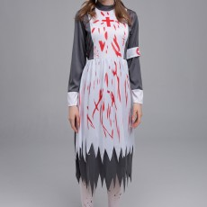 New Halloween Cosplay female nurse horror zombie costume party theme bloody devil costume
