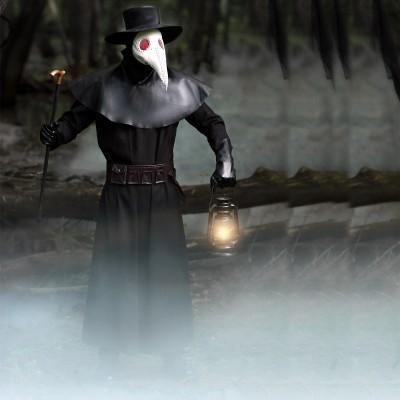 Halloween Cosplay plague beak doctor costume dark hero costume Venice carnival dress up