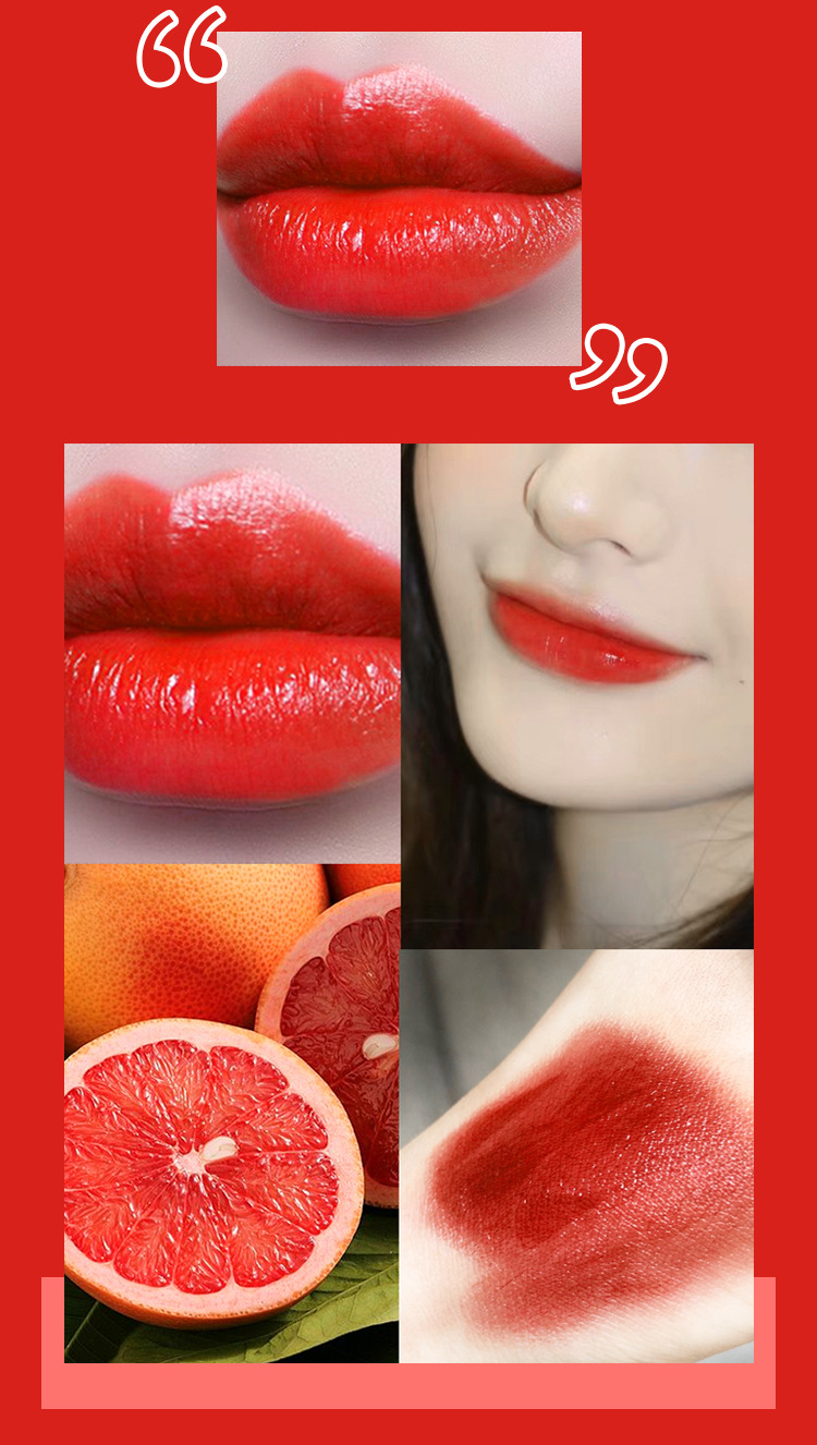 Three-color lipstick, a two-sided net red, the same style, moisturizing and moisturizing, not easy to fade 1