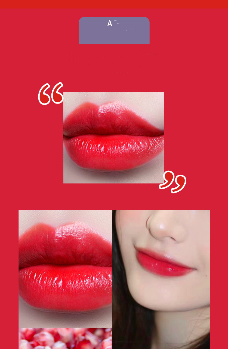 Three-color lipstick, a two-sided net red, the same style, moisturizing and moisturizing, not easy to fade 2