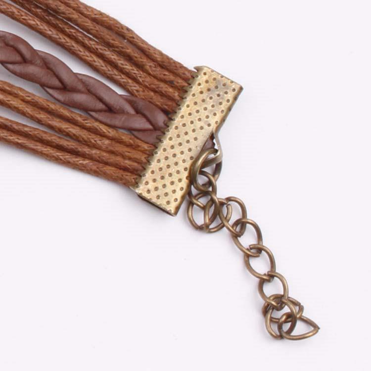 European and American bronze tree of life where infinite believe retro leather cord bracelet 4