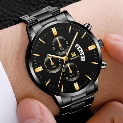 Male Clock Relogio Direct Luxury Men Military Quartz Watch Men Stainless Steel Gold Calendar Date Wristwatch