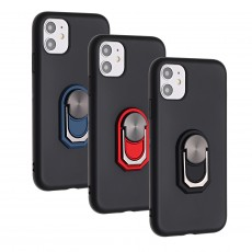 iPhone 11 Case Fingerprint | Kickstand | Anti-Scratch | Microfiber Liner Shock Absorption Gel Rubber Full Body Protection Liquid Silicone Case for iPhone 11