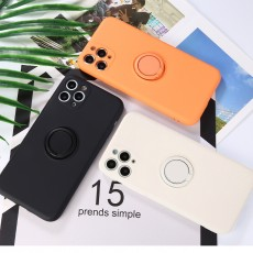 iPhone 11 Case Fingerprint   Kickstand   Anti-Scratch   Microfiber Liner Shock Absorption Gel Rubber Full Body Protection Liquid Silicone Case for iPhone 11