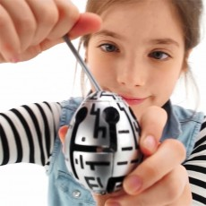 Smart Egg Robo Puzzle 1-Layer,Smart Egg Labyrinth Puzzle Maze for Kids Age 8 and Christmas gift