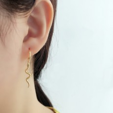 925 Sterling Silver Snake Earrings