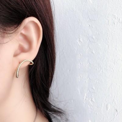 Gold or Silver 925 Sterling Silver Geometric Stud Earrings