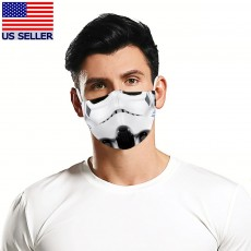 Storm Trooper Star Wars Face Mask 3D Printed Fabric Mask Washable Reusable