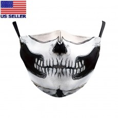 Ghost Bikers Face Mask 3D Printed Fabric Skull Masks Washable Reusable