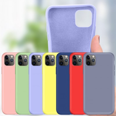Suitable for iphone11 mobile phone protective cover all-inclusive soft shell 12pro Apple 7/8/xs liquid silicone mobile phone case