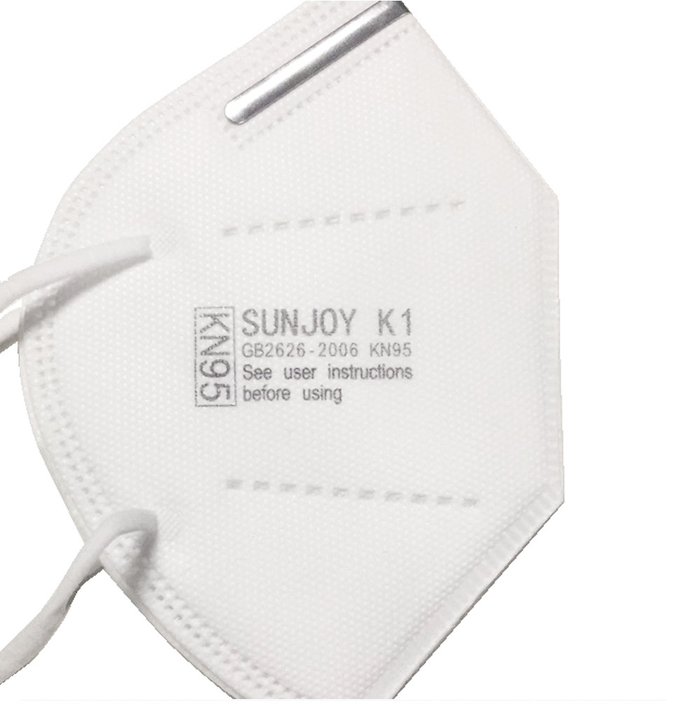 SUNJOY KN95 Protective Respirator 5-ply Earloop Masks Pack Of 10 2